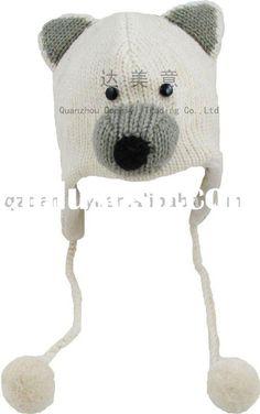 Polar Bear Hat grey nose!