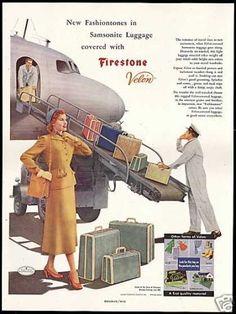 Samsonite Luggage Firestone Velon (1949)