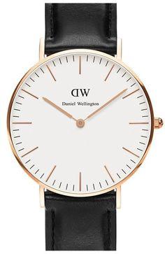 Daniel Wellington 'Classic Sheffield' Leather Strap Watch, 36mm - $199.00