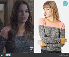Callie's colorblock sweater on The Fosters.  Outfit Details: http://wornontv.net/49660/ #TheFosters