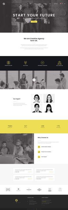 Echo Minimal Personal Portfolio Psd Template Personal portfolio - personal resume websites
