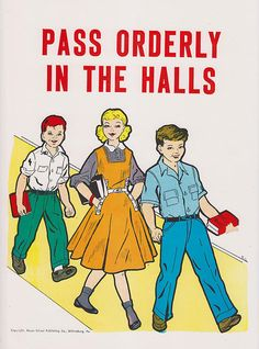 Vintage School Poster  Pass Orderly In The by vintagegoodness, $11.95