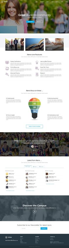 Atena is an WordPress theme, suitable for #College, #University, Campus and #schools. We built this theme on Visual Composer, a very convenient drag-n-drop PageBuilder for #WordPress.