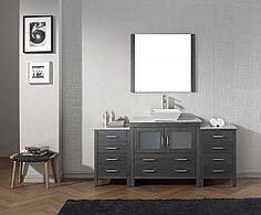 "72"" Virtu Dior KS-70072-ZG bathroom vanity BathroomRemodel #BlondyBathHome #BathroomVanity#ModernVanity"