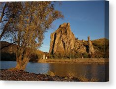 Ruin castle on the rock, evening scene in the autumn evening Pictures For Sale, Cool Pictures, Landscape Pictures, Stretched Canvas Prints, Ruin, Fine Art Photography, Monument Valley, Fine Art America, Fine Art Prints