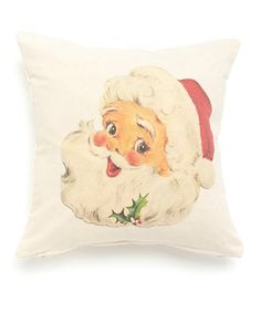 Take a look at this Santa Face Throw Pillow on zulily today!