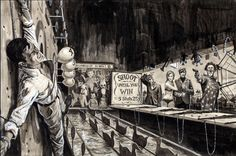 GIL COHEN - Shooting Gallery - For Men Only - item by gameraboy1.tumblr Pulp Fiction Art, Pulp Art, Clown Paintings, Adventure Magazine, Tales From The Crypt, Sci Fi Horror, Magazine Art, Comic Art, Creepy