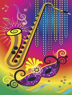 Colorful Symbols Of Mardi Gras Print At Allposters Com New Orleans Art New Orleans