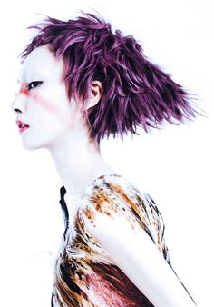 purple textures.