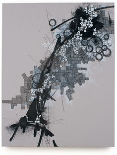 Awesome abstract map art by Derek Lerner                              …