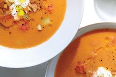 Find the recipe for Watermelon Gazpacho with Feta Crema and other watermelon recipes at Epicurious.com