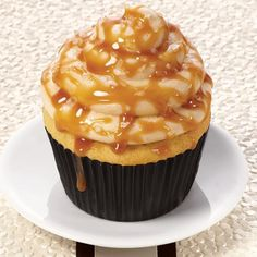 Salted Caramel Cupcakes - This sweet and savory dessert will surprise your palate. Pair this cupcake with vanilla ice cream or caramel latte for extra flavor.