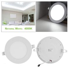 Punctual New Special Thin Led Panel Lamp Warm White Cool White Ac 85-265v Home Decoration Light Recessed Ceiling Spot Lamp 4w 9w 12w 24w Ceiling Lights & Fans