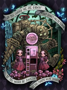 big daddy and little sister (bioshock) drawn by bezzalair - Bioshock Rapture, Bioshock Game, Bioshock Series, Bioshock Infinite, Bioshock Artwork, Bioshock Tattoo, Video X, Video Game Art, Video Games