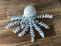 Gehäkelter Oktopus, ideal für Frühchen. Länge 15 cm