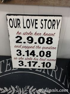 "Perfect for decoration at the ceremony/reception and cute decor for the house afterward. he popped the question. She stole his last name"" Perfect Wedding, Our Wedding, Dream Wedding, Wedding Signs, Wedding Stuff, Wedding Photos, Future Mrs, Maybe One Day, Here Comes The Bride"