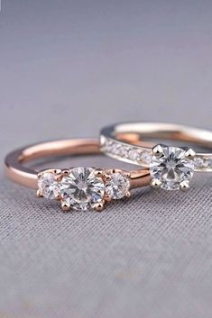 21 Three Stone Engagement Rings You Will Want ❤️ See more: http://www.weddingforward.com/three-stone-engagement-rings/ #wedding
