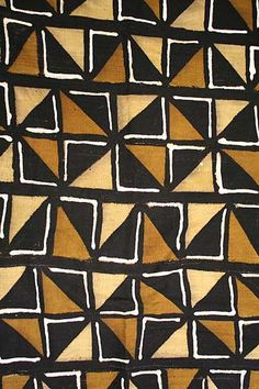 African motifs and patterns - Kuba cloth Tribal Patterns, Print Patterns, African Patterns, Floral Patterns, Motifs Textiles, Textile Patterns, African Textiles, African Fabric, Pattern Art