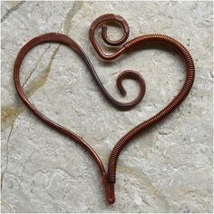 Wire Wrapped Heart Shaped Pendant Component by SunStones on Etsy, $10.00