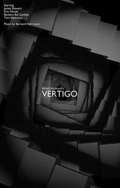 Alternative movie poster for Vertigo by Rafal Topolski