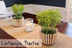 Clothespin Planter DIY ~ Cute!