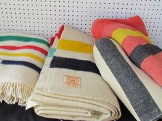 Lord knows I don't need any more blankets, but I have always wanted a Hudson Bay. The traditional scheme is a classic,  but they also have other neat colors too.  Really I like anything with that traditional Point blanket color theme (clothes, bags accessories, etc). And Hudson's Bay Company has a website with a ton of really awesome stuff. I like everything there!