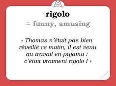 Le mot (familier) du jour : « rigolo » [ʀigɔlo]   #fle #familier #learnfrench #francais #Wordoftheday #slang #familier Les Machin  (@Les_Machin) | Twitter