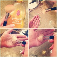 Clean Your makeup brushes and save yourself from bacteria and unnecessary acne.