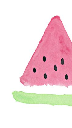 Download Watermelon Watercolor Hand Painting iPhone 6 Plus HD Wallpaper