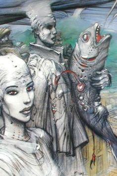 ©Enki Bilal Fantasy Comics, Fantasy Art, Bilal Enki, Character Illustration, Illustration Art, Heavy Metal Comic, Book Creator, Bd Comics, Comic Artist