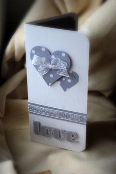 carte mariage en blanc et gris