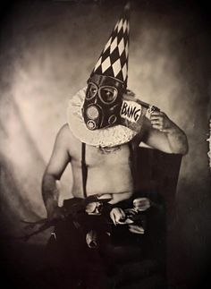 "By: Dennis Ziliotto Title: ""The Apocalypse Clown"" Country: Italy Date: Wet Plate Collodion, International Artist, Apocalypse, Batman, Italy, Superhero, Country, Fictional Characters, Italia"