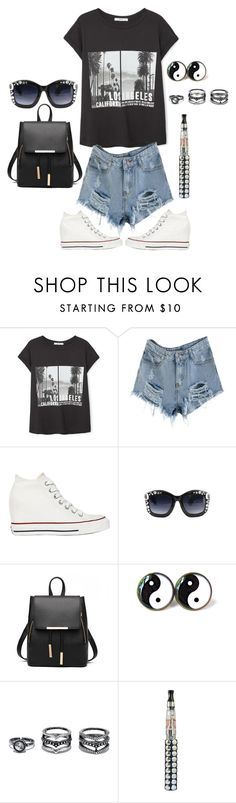 """""""LA Baby"""" by crystalcult on Polyvore featuring MANGO, Converse and LULUS"""