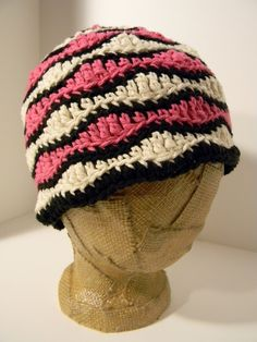 Retro Ripples Hat Crochet Pattern by Glamour4You on Etsy, $5.00