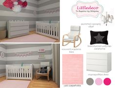 Grey - Pink decoration - DESIGN BOARD