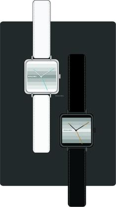 """Step Up ""  wrist watch design by Abhinav Misra .  Minimalist, contemporary , modern"