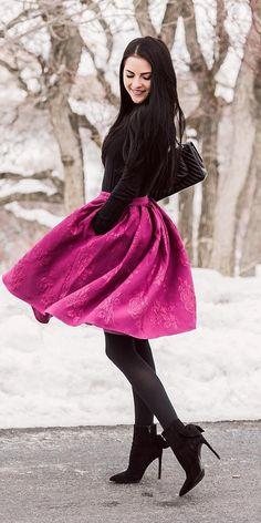 1bae84ff7e7 Winter Wedding Guest Dresses  15 Best Looks ❤ winter wedding guest dresses  colored skirt with
