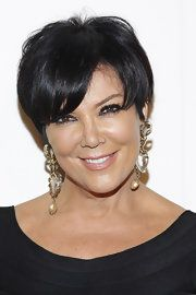 how to style hair for kris jenner side parted cut hair hair 3536