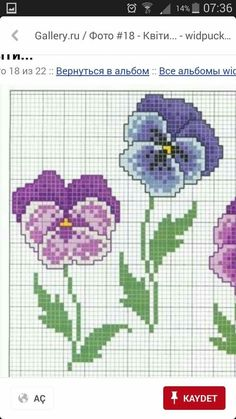 Cross Stitch Flowers, Pansies, Perler Beads, Beading Patterns, Kids Rugs, Embroidery, Quilts, Crossstitch, Floral