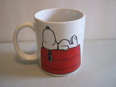 Peanuts Snoopy Coffee Cup Mug by DakotaJoyce on Etsy, $8.00