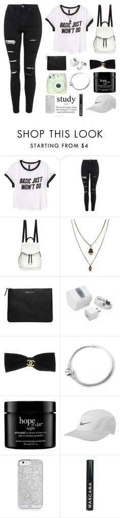 """""""chic"""" by angeliannalcazar ❤ liked on Polyvore featuring H&M, Topshop, rag & bone, Jamie Jewellery, Comme des Garçons, FOSSIL, Chanel, philosophy, NIKE and outfit"""