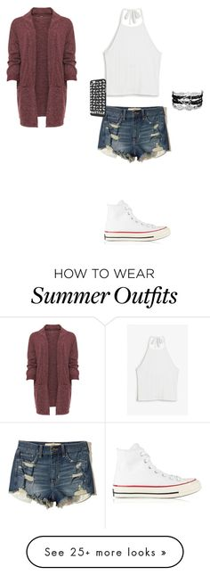 """Cute hipster summer outfit"" by statice-pearl on Polyvore featuring WearAll, Monki, Hollister Co., Converse and plus size clothing"