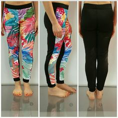 """🍹""""Take me away to a tropical place"""" joggers NWOT 🚨LAST PAIR   Brand new, no tags  Playfully fun tropical joggers. Tropical print on the front with black on the backside. Get comfy in these fun joggers, they easily pair with a sports top and statement sneakers or dress them up with heels, a tshirt and statement jewelry!    95%polyester 5%spandex Size small Length approx 34""""/Inseam approx 27"""" Size mediumLength approx 35""""/Inseam approx 27.5 Elastic waist band allows for stretch   💗Print…"""
