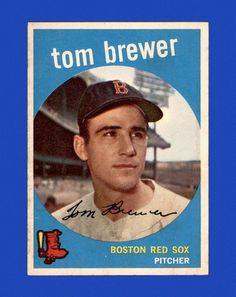 1959 Topps Tom Brewer Baseball Card for sale online Boston Red Sox Players, Mlb Players, Ryan Sweeney, Red Sox Baseball, Baseball Cards For Sale, Trading Cards, Toms, Conditioner, Mint