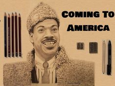 """A Pencil Sketch Timelapsed video of Prince Akeem, Actor Eddie Murphy, """" Coming to America"""". I am a Freehand Pencil Sketch Artist. Eddie Murphy, Pictures To Draw, Graphite, Pencil Drawings, Donald Trump, Prince, Sketches, America, Actors"""