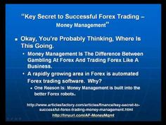 Secret To Successful Forex Trading - Money Management