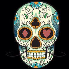 Sugar skull design. Flower motif.                                                                                                                                                                                 More