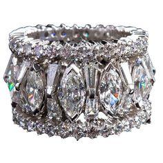 Mixed-cut Diamond Eternity Band lbv #Diamondsrings