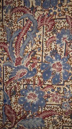 Batik Pattern, Pattern Flower, Flower Patterns, Color Patterns, Batik Art, Batik Prints, Textiles, Textile Patterns, Beaded Shoes
