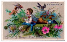 Vintage Image - Boy with Bird and Bee & A GIVEAWAY - The Graphics Fairy